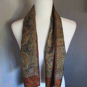 Autumn paisley oblong scarf